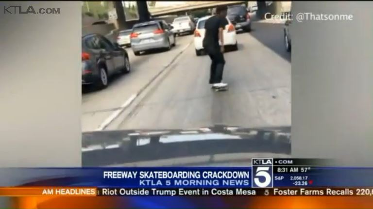 Video: Footage of Skateboarding on California Freeways Sparks Investigation