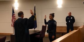 Las Vegas Shooting Survivor Sworn in as Oregon Police Officer