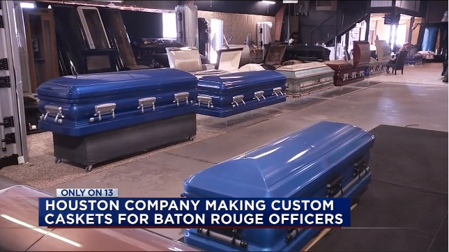 Video: Company Donates Custom Caskets to Families of the 3 Slain Baton Rouge Officers