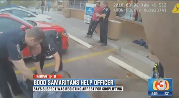 Video: Civilians Come to Aid of Arizona Officer in Struggle with Suspect