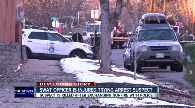 Video: Denver SWAT Officer Wounded, Fugitive Killed in Shootout