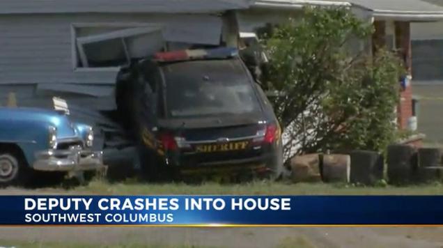 Video: Ohio Deputy Crashes Vehicle into House while Running Code 3
