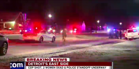 Video: Detroit Police in Standoff with 2 Barricaded Gunmen, Officer Wounded