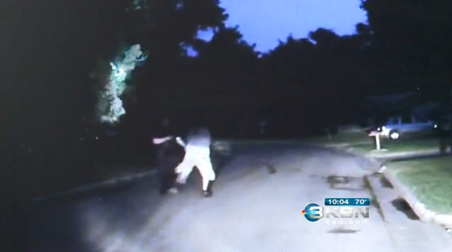 Video: Kansas Man Attacks Officer by Swinging Small Dog on a Leash