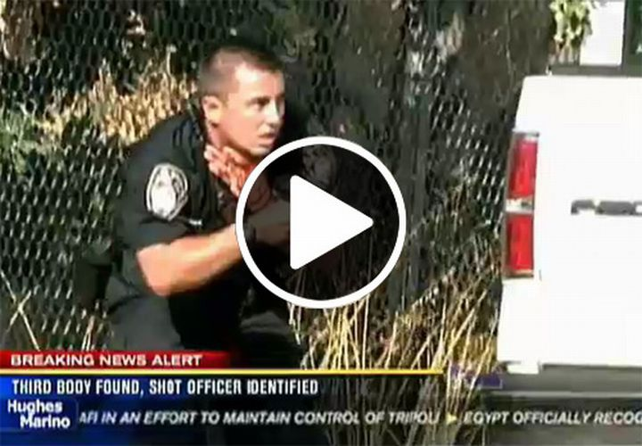 Video: Shot Calif. Cop Dragged to Safety by Partner