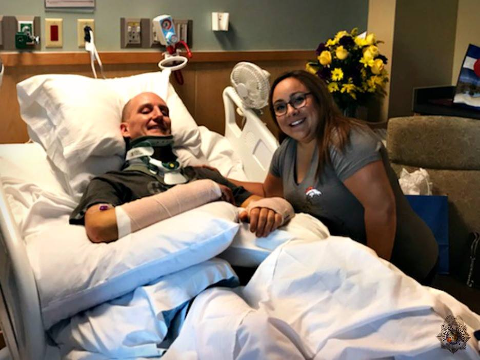 Colorado Dispatcher Reunited with Officer She Helped After Traffic Crash