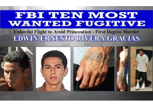 FBI Adds MS-13 Member to Top Fugitive List