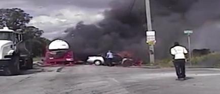Video: Florida Deputies Pull Woman from Burning Car