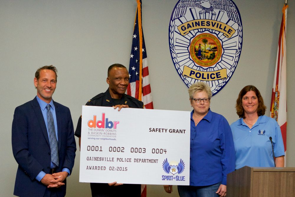 Gainesville PD Receives Safety Grant from the Spirit of Blue Foundation and Dunkin' Donuts