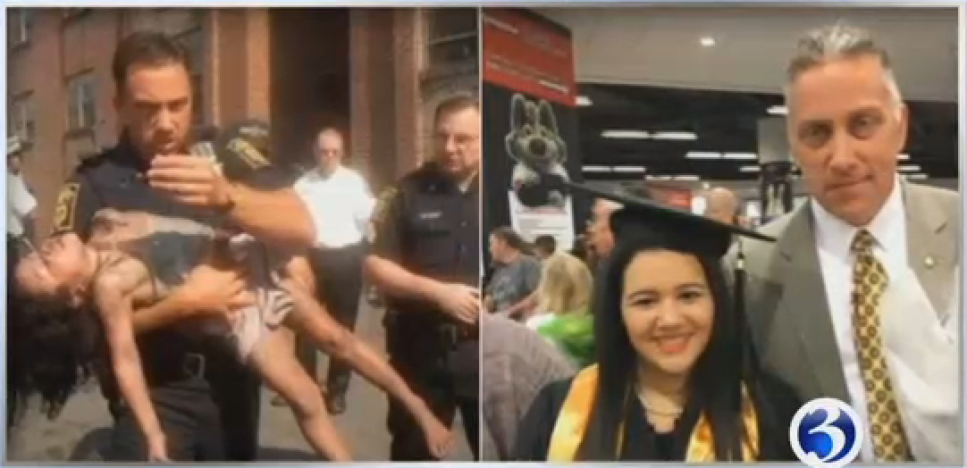 Video: Retired Connecticut Detective Attends Woman's Graduation Decades after Rescuing Her as a Girl
