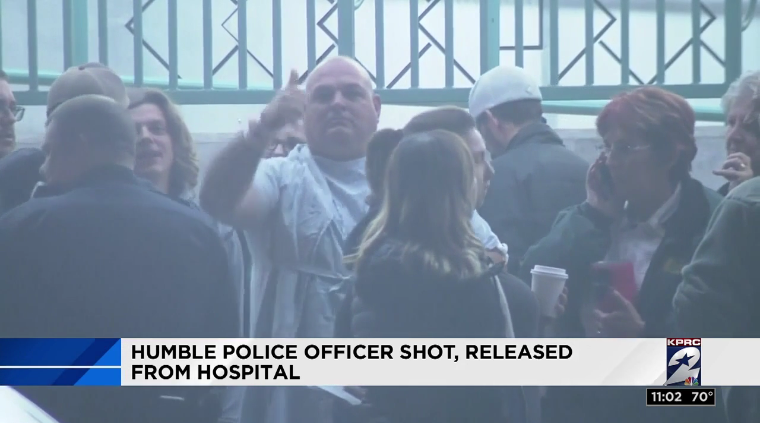 Video: Texas Officer Shot in Chest, Drives Self to Hospital