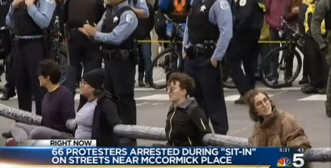 Video: Dozens of Protesters Arrested Outside of IACP Show in Chicago
