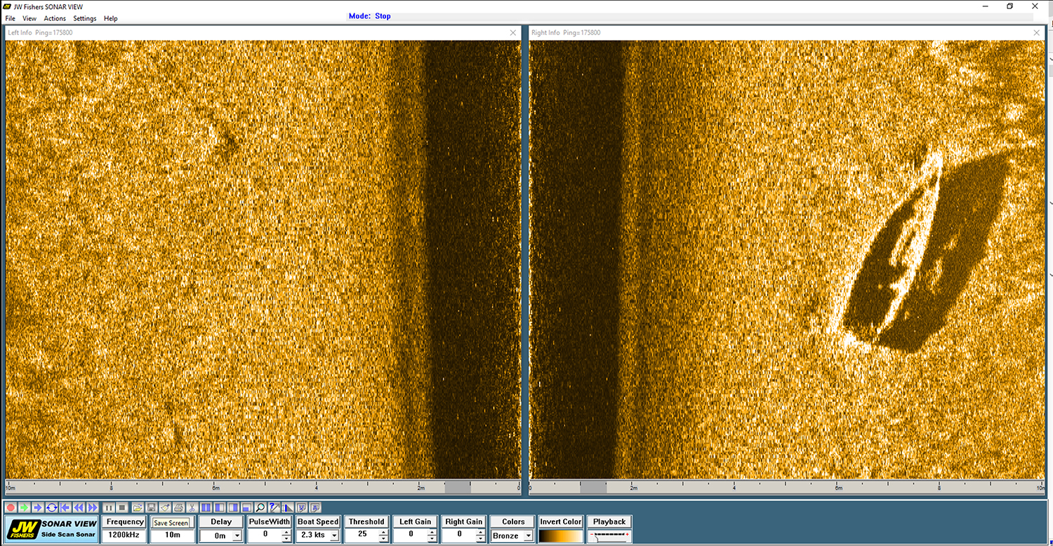 JW Fishers' Side Scan Sonar Adds Clarity to Underwater Searches