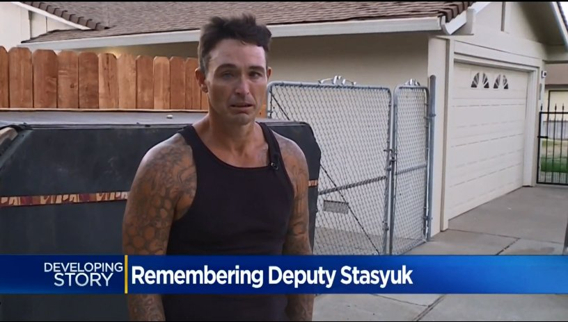 Video: Homeless Man Mourns Slain California Deputy Who Arrested, Then Cared for Him