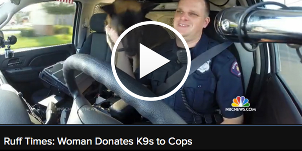 Video: Woman Donates 60 Police Dogs to Officers