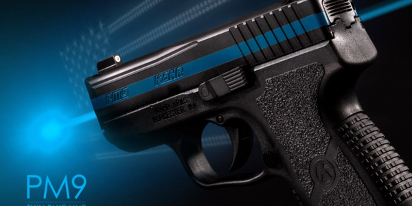 Through the Fallen Officer Program, Kahr Arms will donate a Thin Blue Line model PM9 that can...