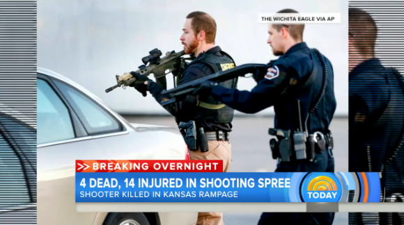 Video: Kansas Active Shooter Kills 3, Wounds 14, Before Being Stopped by Single