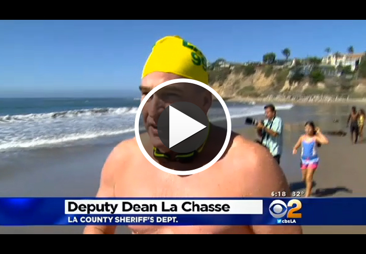 Video: 8 Los Angeles Officers Swim All Night For Charity