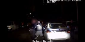 Video: LAPD Releases Video of Officer Shot at Point Blank Range During Traffic Stop