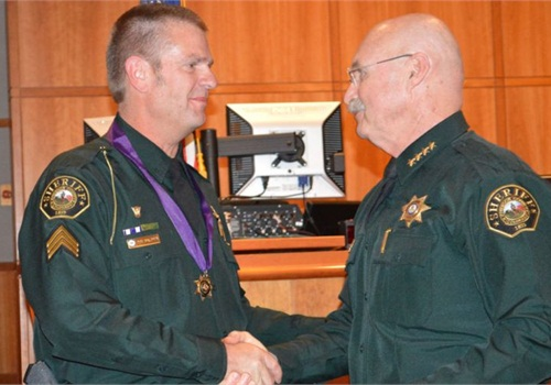 Sgt. David Baldwin, left, died Sunday while on motorcycle patrol. Photo courtesy of the Jefferson County (Colo.) Sheriff's Office.