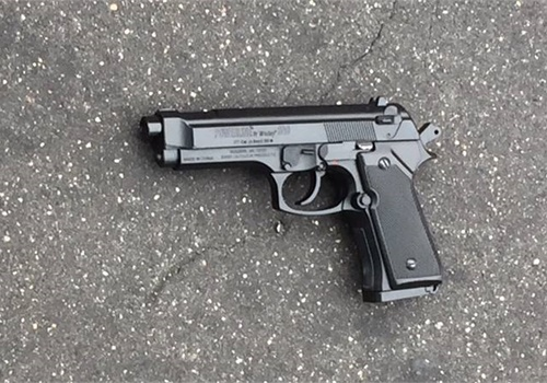Police released an image of thereplica semi-automatic pistol recovered at the scene. (Photo: Baltimore PD Facebook)