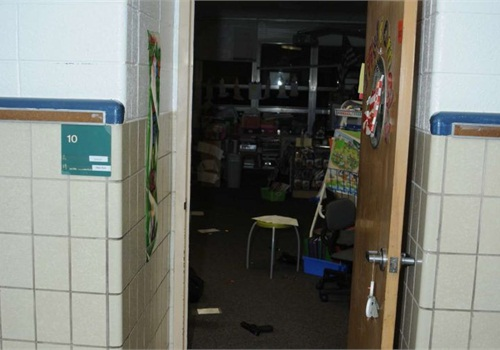 Photo of one of the Sandy Hook classrooms where children were killed courtesy of Connecticut State Police.