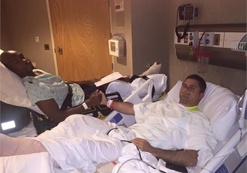 Troopers Deandrea Dixon (left) and Bubba Holifield are recovering from their wounds. (Photo: Facebook)