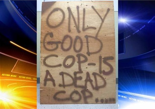 Someone posted this sign in Falls Township, PA. (Photo: Falls Township PD)