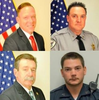 Detective Mike Doty (top left), Sgt. Buddy Brown (top right), Sgt. Randy Clinton (bottom left), and Sgt. Kyle Cummings (bottom right) (Photo: York County Sheriff's Office)