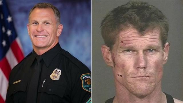 Sgt. Robert Livingston and suspect Stephen Hudak (Source: Glendale PD)
