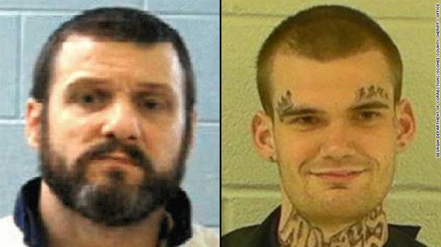 Donnie Russell Rowe and Ricky Dubose escaped Tuesday from a Georgia Department of Corrections bus. Two guards were killed during the escape. (Photo: Georgia DOC)