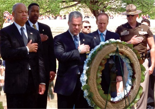 FLEOA hosted a 20-Year Remembrance Ceremony to honor the eight law enforcement who died in the Oklahoma City bombing in 1995. (Photo: FLEOA)