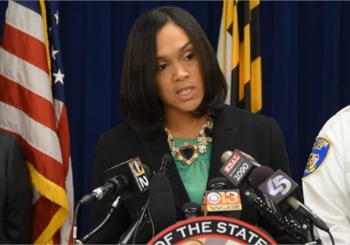 Screen capture of Marilyn Mosby at press conference: Baltimore Sun