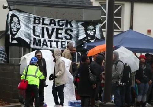 Black Lives Matter is protesting the shooting of an assault suspect by Minneapolis officers. (Photo: Minneapolis Star-Tribune video screen shot)