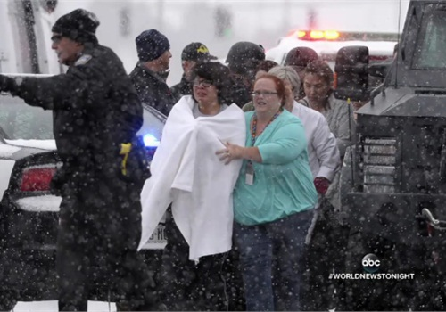Officers rescued trapped civilians from the Planned Parenthood building using a Lenco Bearcat. (Photo: ABC News screen shot)