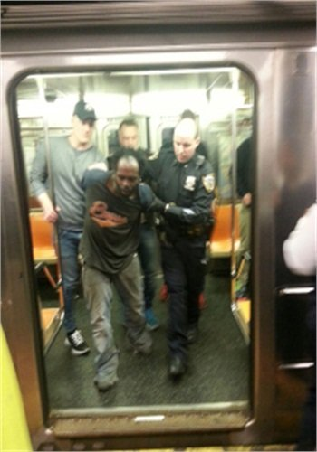 The Swedish officers turned the suspect over to the NYPD (Photo: Uncredited from New York Post)