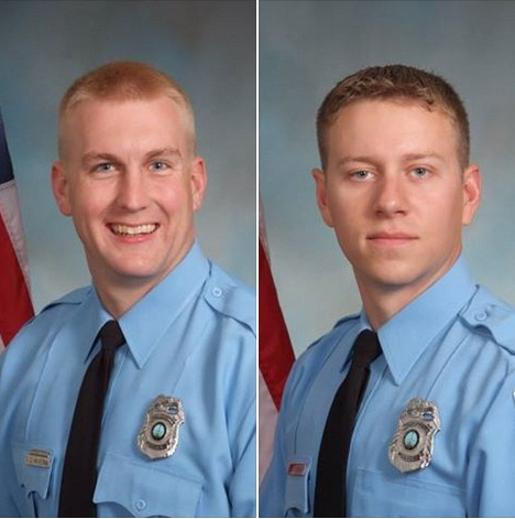 Officers David McKeown and Jesse Hempen are recovering. (Photo: Prince William County PD Facebook)
