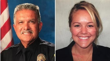 """Officer Jose """"Gil"""" Vega and Officer Lesley Zerebny were killed at a domestic."""
