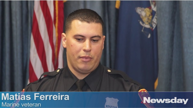 Matias Ferreira lost his legs to an IED blast in Afghanistan, but it didn't stop him from pursuing his dream of becoming a police officer. (Photo: Screen shot from Newsday video)