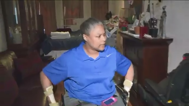 Jersey City, NJ, Officer Cora Kerton is fighting for benefits. She was paralyzed on duty. (Photo: Pix 11 screen shot)