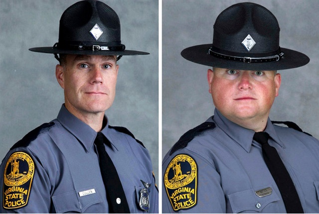 Lt. H. Jay Cullen and Trooper Berke Bates (Photo: Virginia State Police)