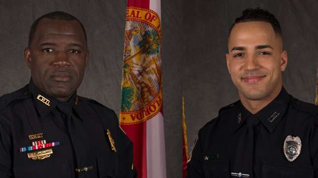 "Sgt. Richard ""Sam"" Howard and Officer Matthew Baxter (Photos: Kissimmee PD)"