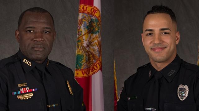 """Sgt. Richard """"Sam"""" Howard and Officer Matthew Baxter (Photos: Kissimmee PD)"""