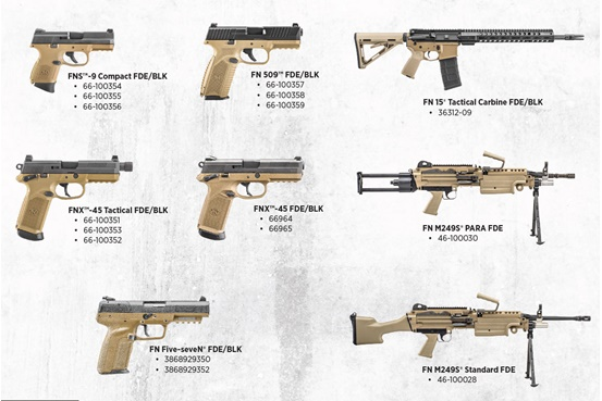 The FN FDE & BLK Series Photo: FN