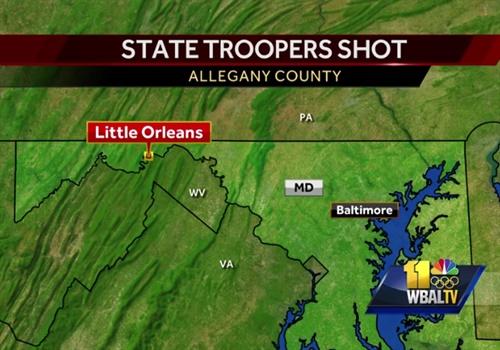 2 Maryland state troopers were shot after an hourslong barricade. (Photo: WBAL screenshot)