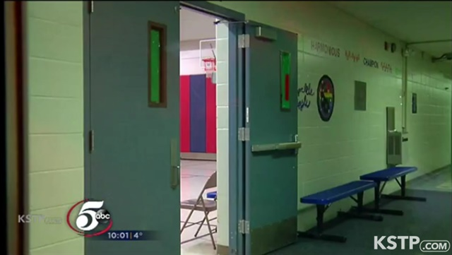 A Minnesota elementary school student fired an officer's weapon while it was still holstered. (Photo: KSTP screenshot)