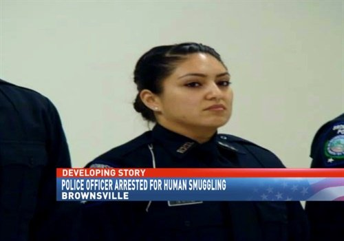 A police officer in Texas has been placed on administrative leave following her arrest on human smuggling charges. (Photo: Brownsville PD)