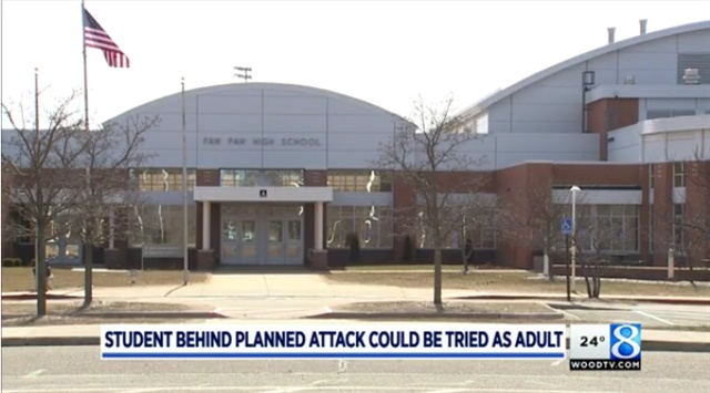 A 15-year-old student at this Michigan high school could be tried as an adult for his plan to shoot and bomb his classmates.