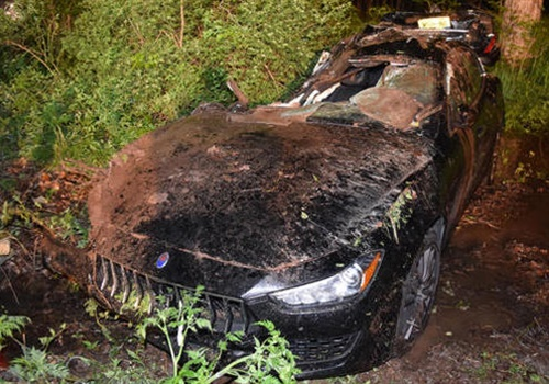Officers Colangelo and Martinez were not wearing seatbelts and were ejected from the front seats of the rental Maserati. (Photo: New York State Police)