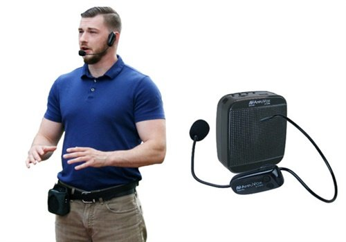 AmpliVox now offers a wireless, wearable PA that delivers crisp, clear sound amplification. Photo: AmpliVox